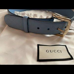 Authentic Gucci belt periwinkle